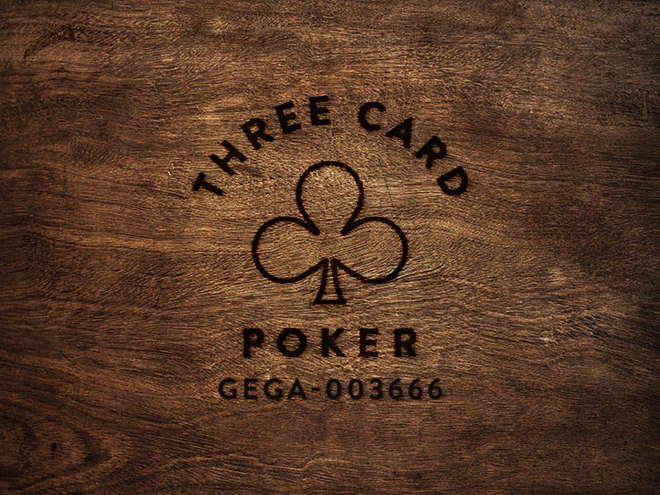 Three Card Poker wood square