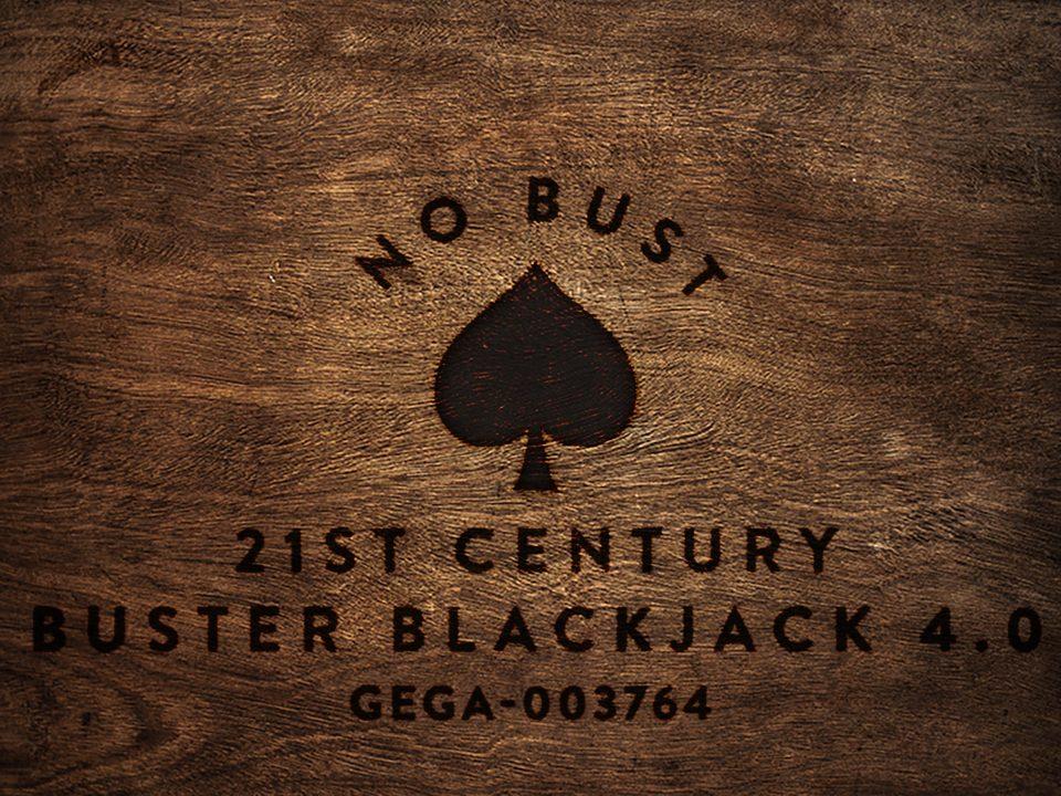 No Bust 21st Century Buster Blackjack 4.0 GEGA-003764 wood block