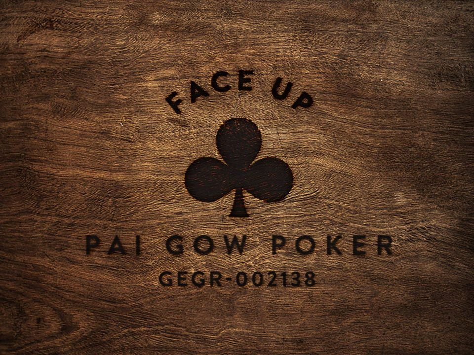 Face Up Pai Gow wood square