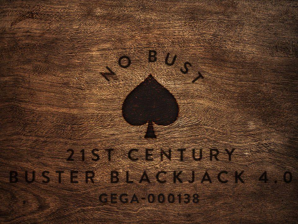 No Bust 21st Century Buster Blackjack 4.0 wood square