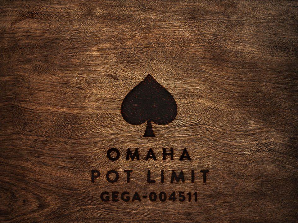 Omaha Pot Limit GEGA-004511 wood square